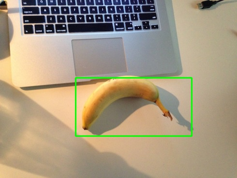 A banana on the desk